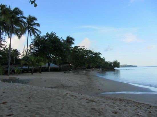 East Winds : View of the beach at sunrise