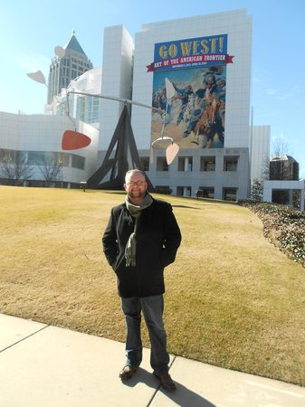 High Museum of Art: In front of the High and the soon to be gone Calder sculpture.