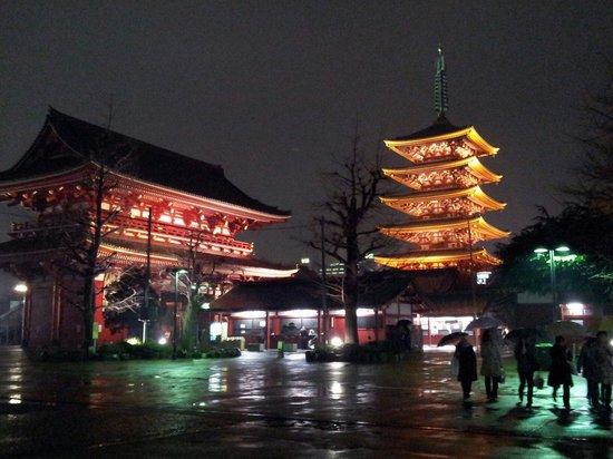 Asakusa: Night time temple view