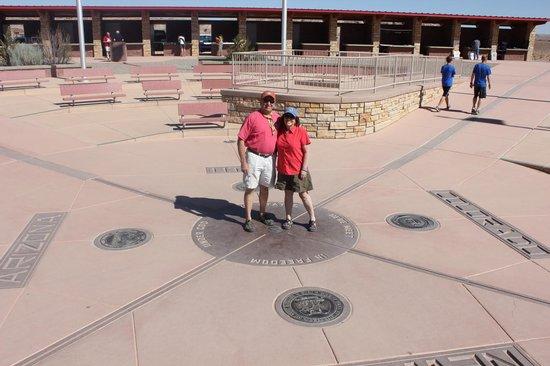 Four Corners Monument: The monument at Four Corners - Arizona, New Mexico, Colorado, Utah