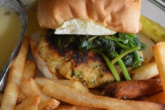 Crabby patty picture of stella 39 s fish cafe minneapolis for Stellas fish cafe