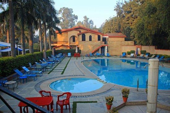 Ashok Country Resort: プールもあります(でもここでは泳がないでしょう。)