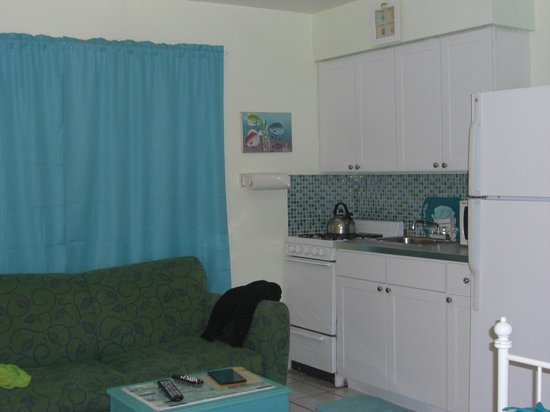 Angelfish Inn: living space, kitchen