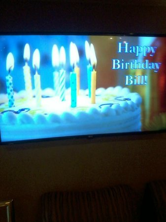 Harbour Towers : Bill's birthday - banner in lobby