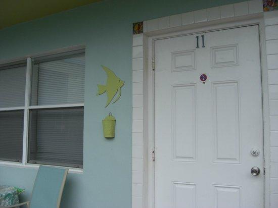 Angelfish Inn: front door of room 11