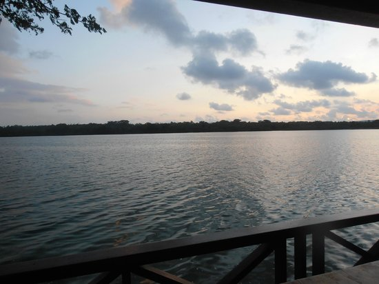 Sunset Bungalows Resort : your own private deck over the water