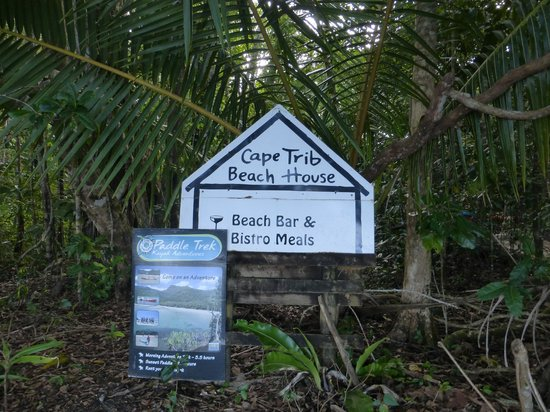 Cape Tribulation Beach House: Only sign on beach for nearly a mile