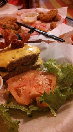 The Tomato Place: Dry, gummy, tasteless frozen burger
