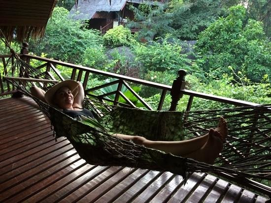 hammock in Koh Tao royal resort bungalow