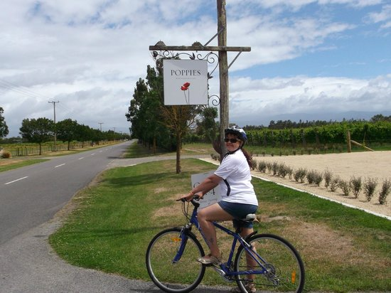 Poppies Martinborough: Cycling to Poppies Winery