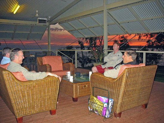 Melville Island Lodge: Relaxing after a days fishing.