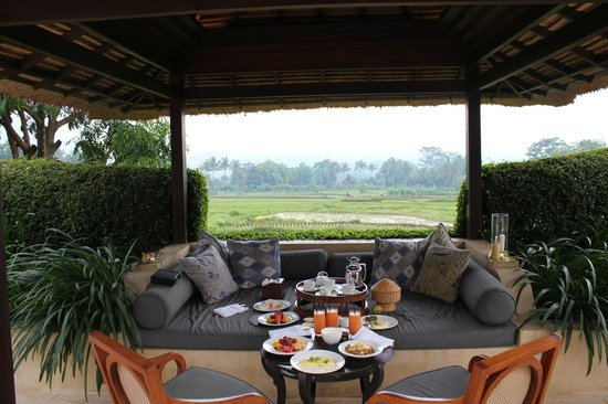Amanjiwo Resorts: Breakfast at gazebo