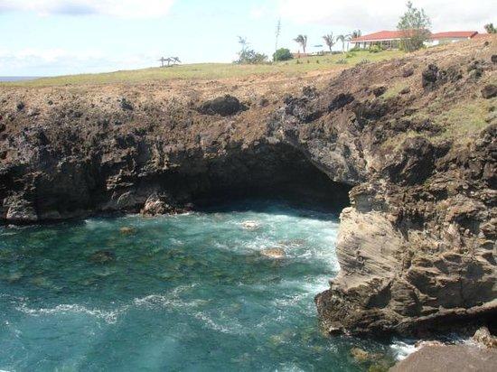 Ana Kai Tangata: Vista de la cueva