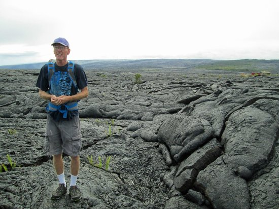 David Ewing Lava Walking Tours: David Ewing discussing lava flows from the past.