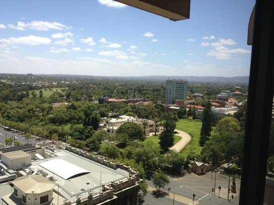 Stamford Plaza Adelaide: View looking east out my window