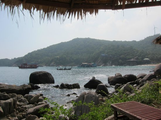 Baan Talay Koh Tao : View from the sunbeds