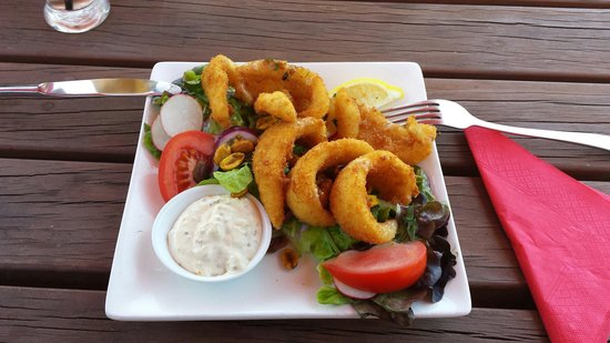 The Bay House : Calamari with Salad