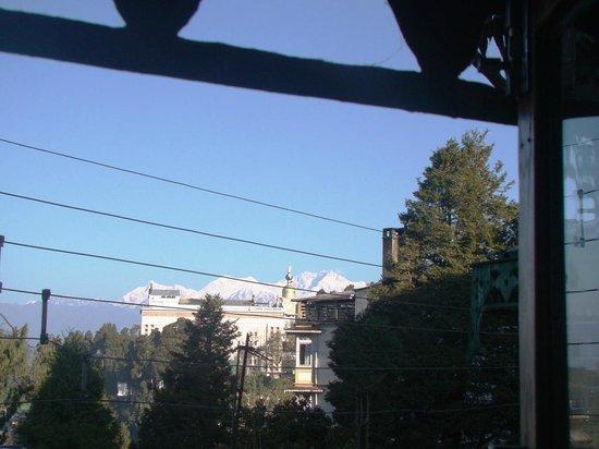 Hotel and Restaurant Shangri-la: View from room- Kanchenjunga