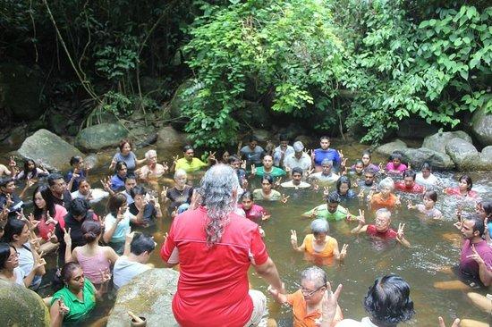 Tanah Aina Farrah Soraya Resort: Doing the 'water element exercises'