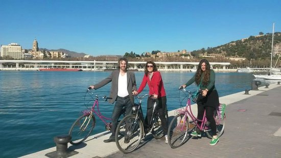 Malaga Bike Tours by Kay Farrell: At the new Port, Malaga
