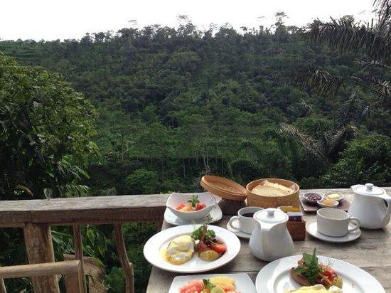 Puri Sebatu Resort : Best part of the stay - breakfast with a view.