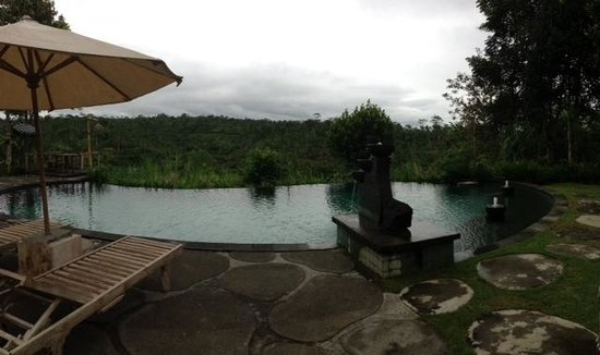 Puri Sebatu Resort : quite pool area