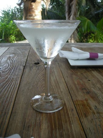 The Beach House Restaurant and Tapas Bar: The Vesper (aka Bond drink) only needed one...