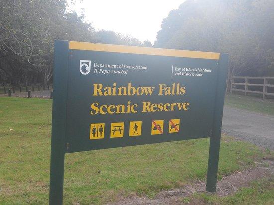 Rainbow Falls Walk: board