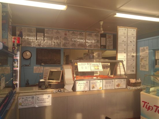 Seafood takeaways Highway 10: inside