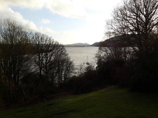 Cragwood Country House Hotel: View of lake Windermere from the hotel's garden