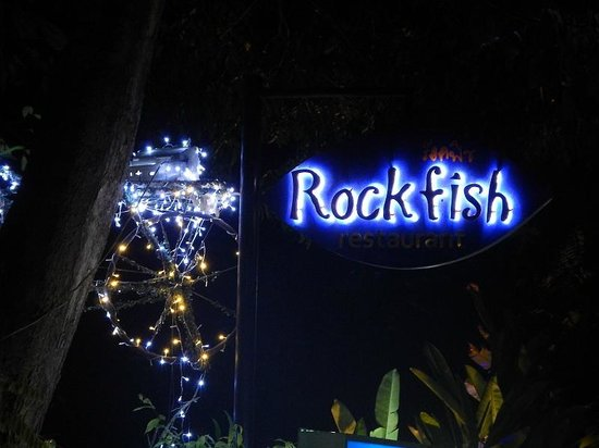 Rockfish : The sign outside