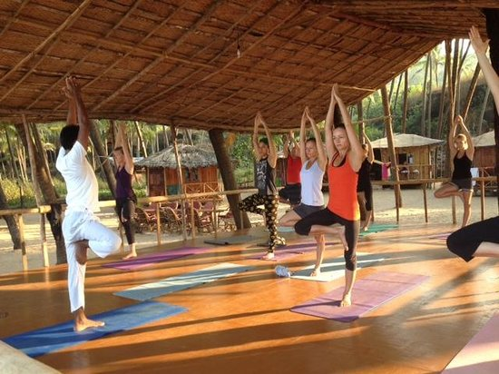 Little Cove Yoga Holiday Retreat: Yoga space - facing the ocean