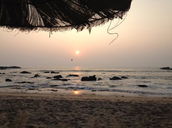 Little Cove Yoga Holiday Retreat: Laying down at the beach and watching sunset