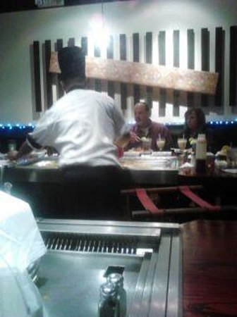 Miyabi Kyoto Japanese Steakhse : Another table cooking on New Years Eve