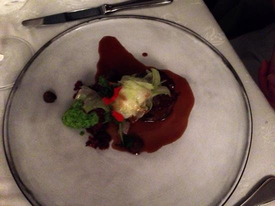 The Roundhouse Restaurant: lamb with pea purre