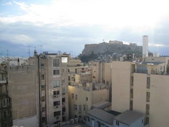 Arethusa Hotel: View from terrace ofthe  Acropolis