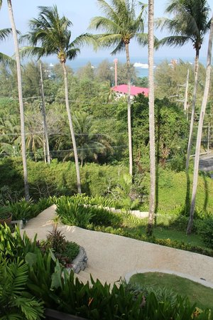 Ayara Hilltops Resort and Spa: view of the sea from the suite as well as hotel grounds