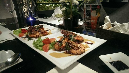The Chill Resort & Spa, Koh Chang: Recommended dish: King prawn with Thai sweet n sour sauce