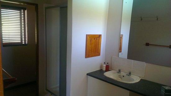 Hildesheim Guest House: Toilet, shower, basin