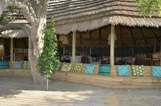 Chobe Bakwena Lodge: communal area overlooking the Chobe river