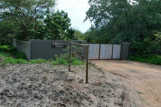 entrance to Chobe Bakwena Lodge
