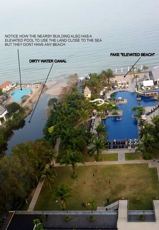 Novotel Hua Hin Cha Am Beach Resort and Spa: VIEW FROM BALCONY-with TEXT