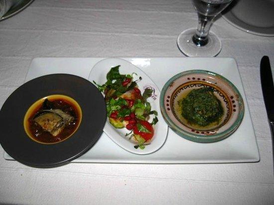 O'Bleu Mogador: One of our four dinner courses.