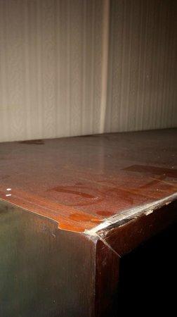 B.M.P. Residence: Dust on cupboard