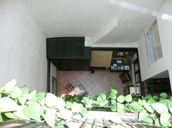 Casa Margherita : Reception vista dal pianerottolo