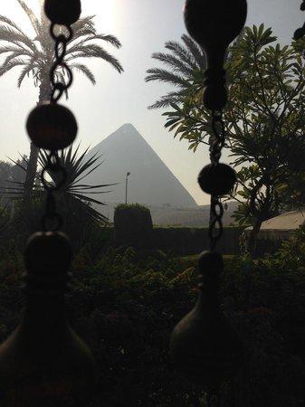 Mena House Hotel: Linda vista a las piramides