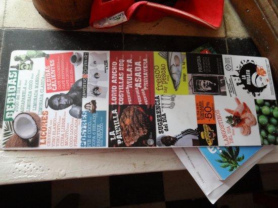 La Mulata: menu