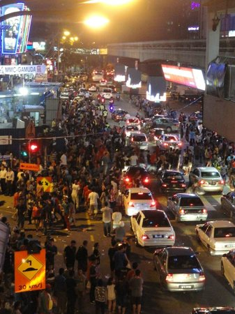 Bintang Walk : the roads were abuzz with people on New Year's Eve