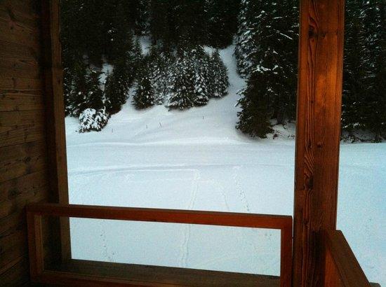 Priva Alpine Lodge Lenzerheide: Unser Balkon mit Sicht auf der Piste!