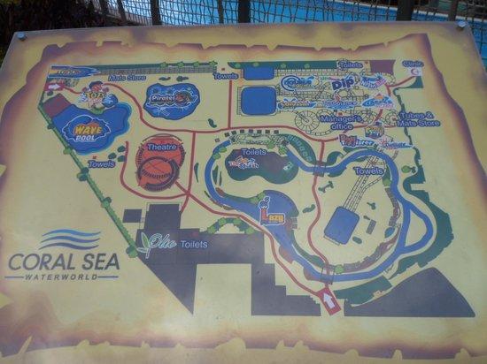 Coral Sea Waterworld Resort: Map of Waterpark